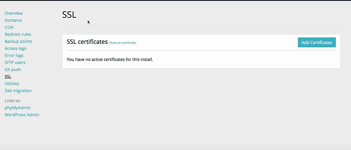 WP Engine SSL Certificate