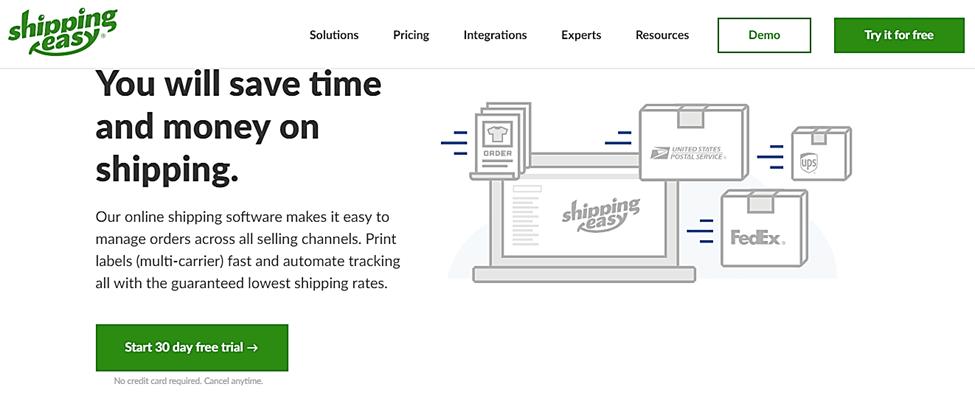 shippingeasy homepage