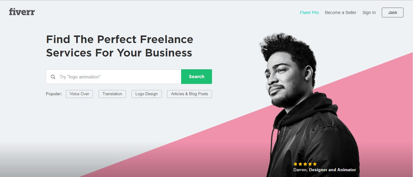 I Prefer Starting with Fiverr