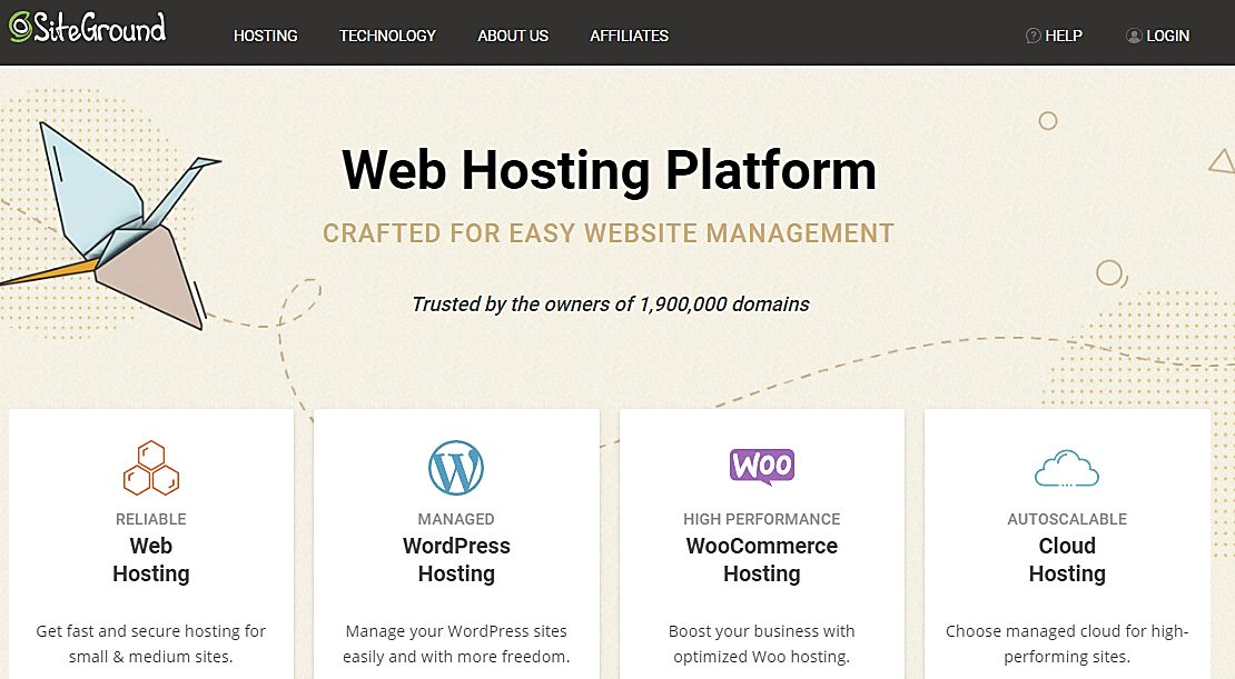 siteground home page