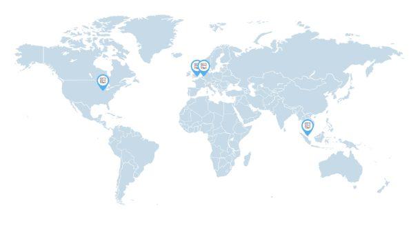 Siteground's network locations