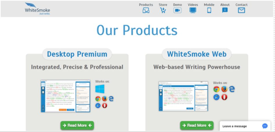 whitesmoke our products