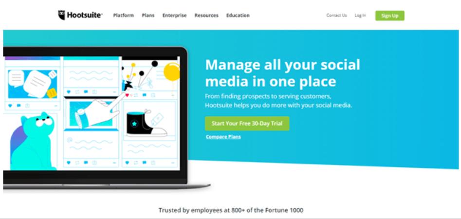 hootsuite homepage