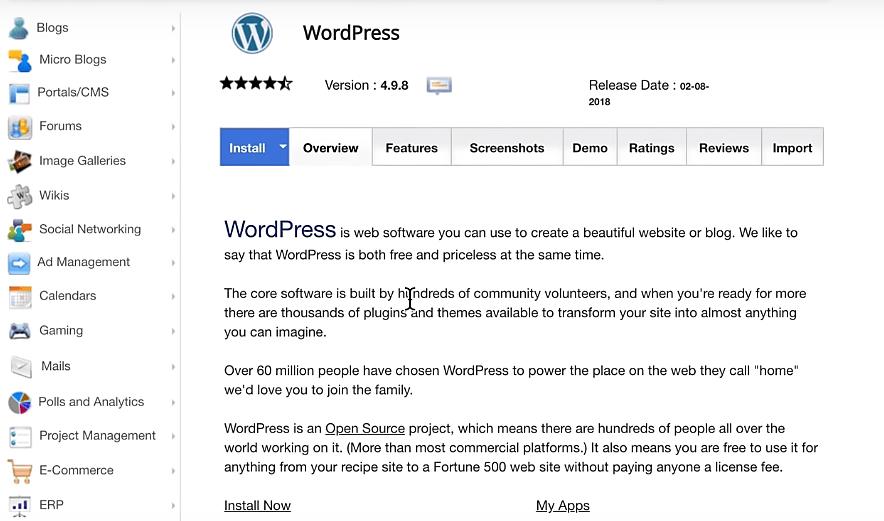 siteground usability with WordPress