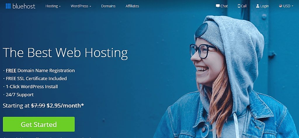 blue host home page