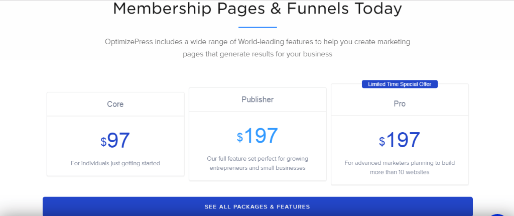 OptimizePress Membership Pages