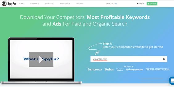 spyfu homepage