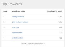 spyfu top keywords