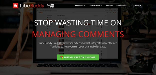 Tubebuddy home page