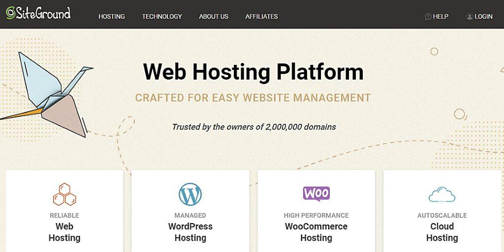 siteground web hosting platform