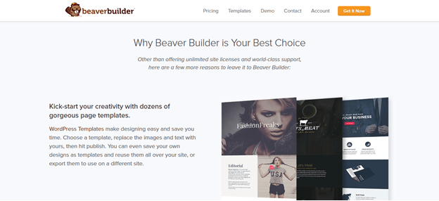 beaverbuilder home page