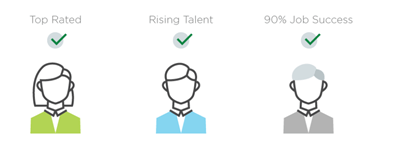 upwork rising talent badge