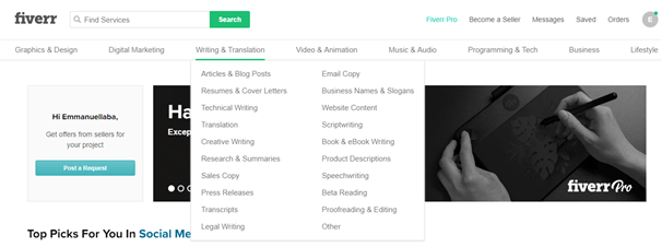 fiverr subcategory