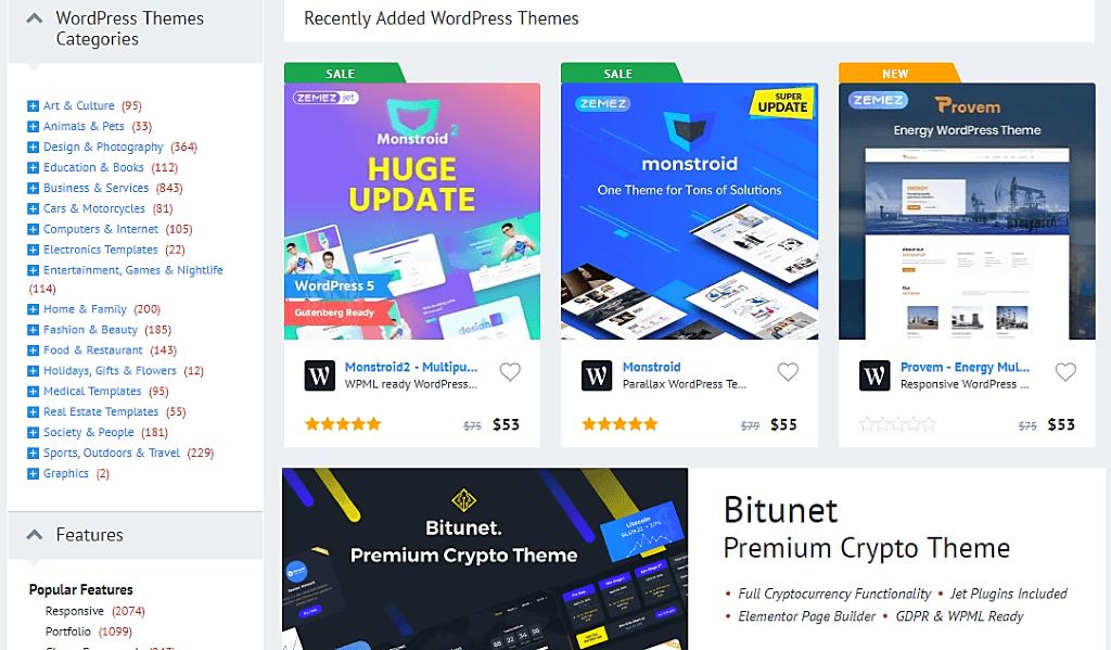 Template Monster WordPress Themes