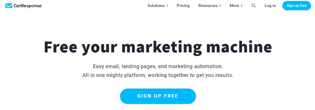 GetResponse homepage