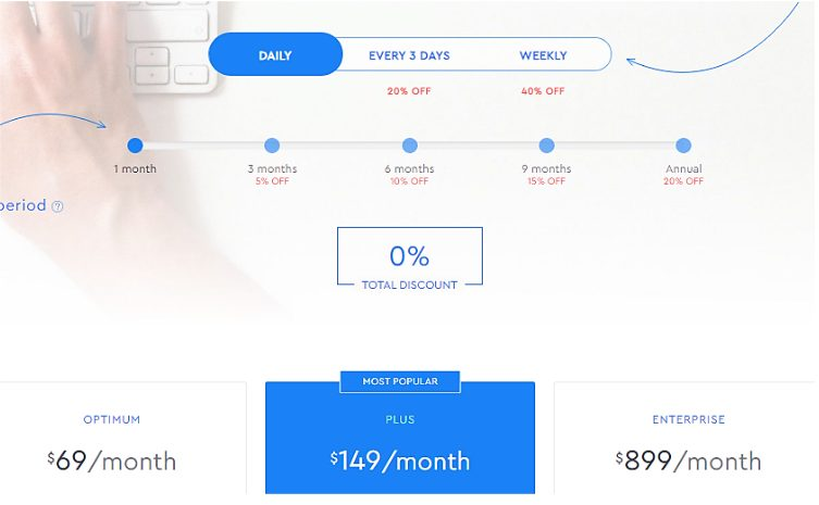 SE ranking pricing plan