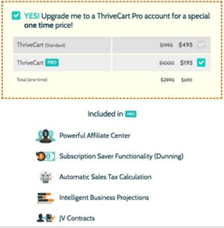 ThriveCart Pro features include