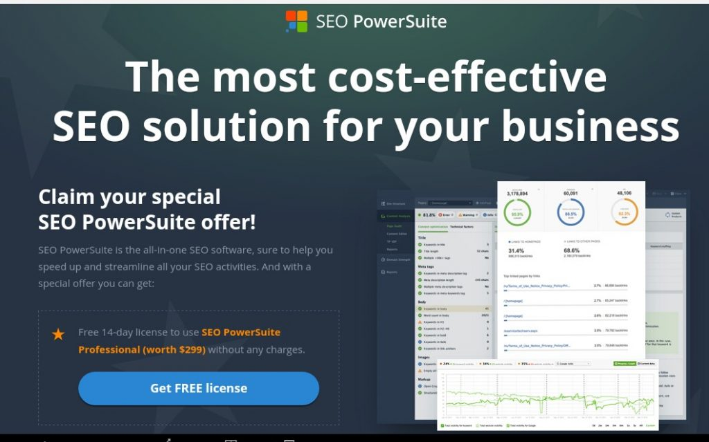 SEO PowerSuite Get Free License