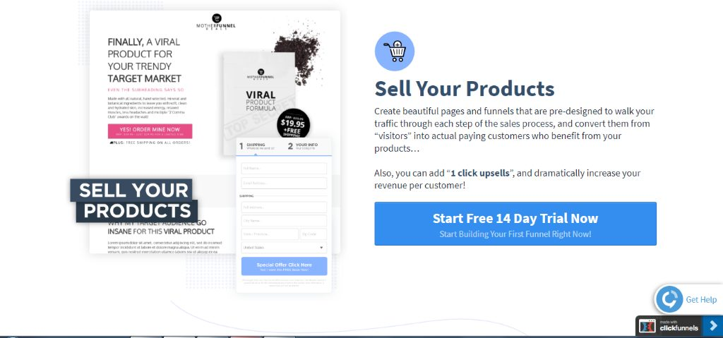 SamCart has a 14 day Free Trial to Start Now