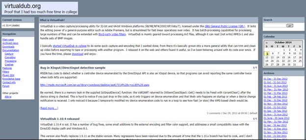 VirtualDub home page