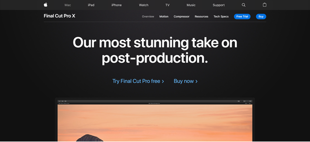 Final Cut Pro X  home page