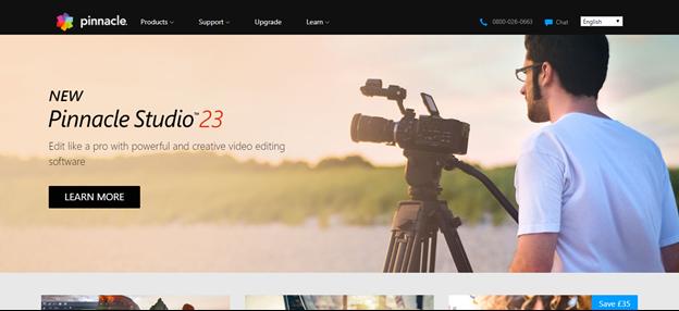 Pinnacle Studio home page