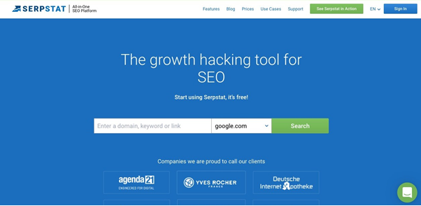 Serpstat home page