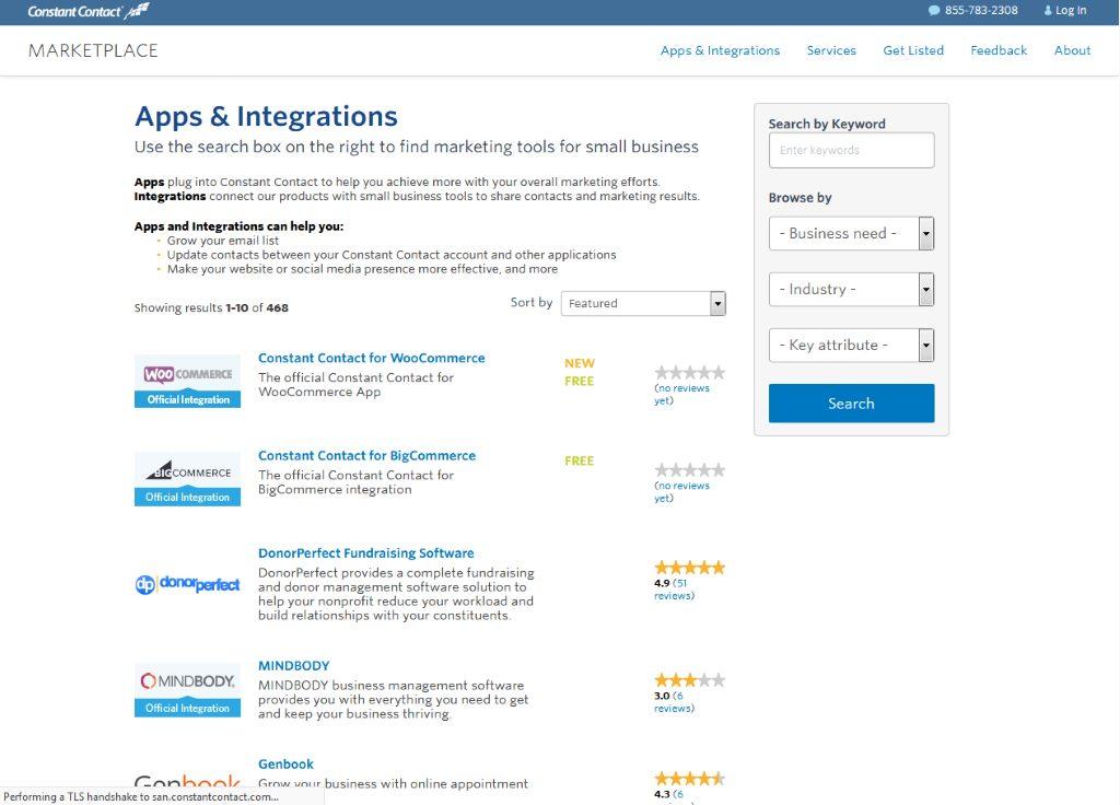 Constant Contact Apps & Integrations