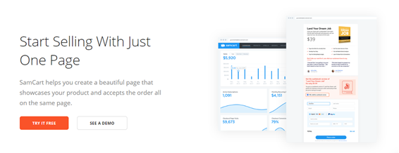 samcart home page