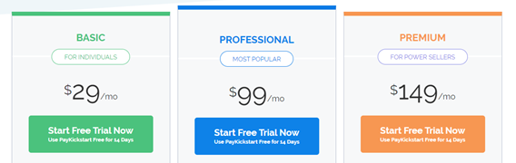 PayKickstartpricing plans