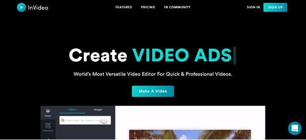 invideo home page