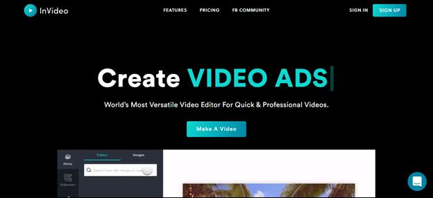 invideo home page