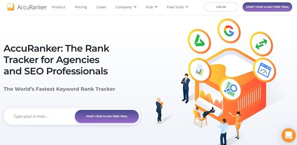 AccuRanker home page