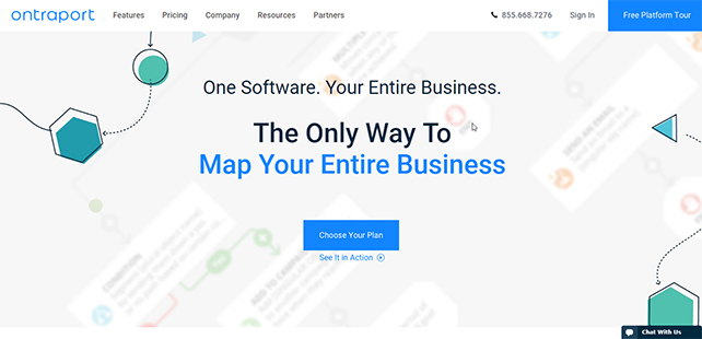 ontraport home page