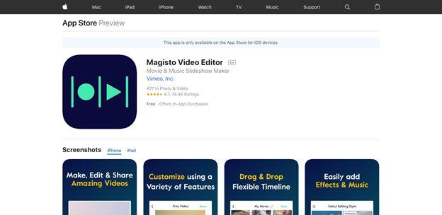 The Magisto Video editor