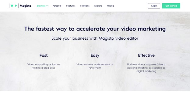 magisto video home page