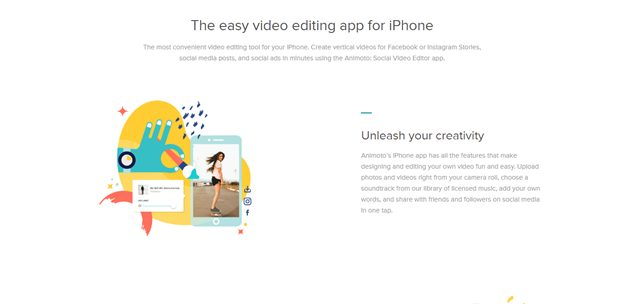 animoto video editing app for iphone