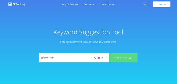 SE Ranking KeywordSuggestionTool