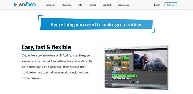 wevideo screenshot