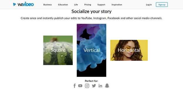 instantly publish video to social media channels