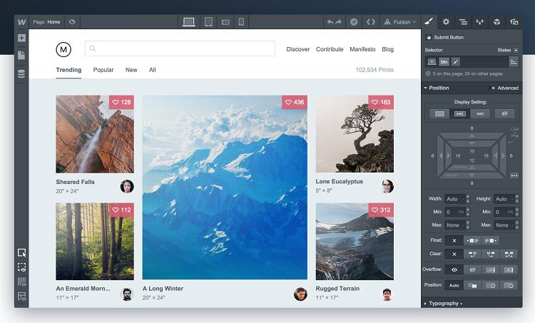 webflow designing