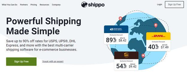Shippo home page