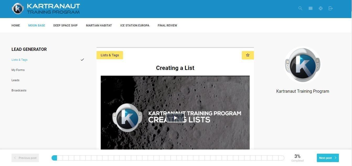Kartranut training program
