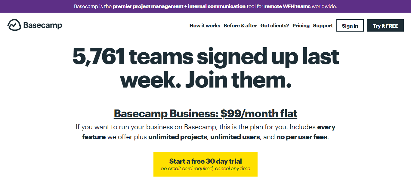 basecamp pricing