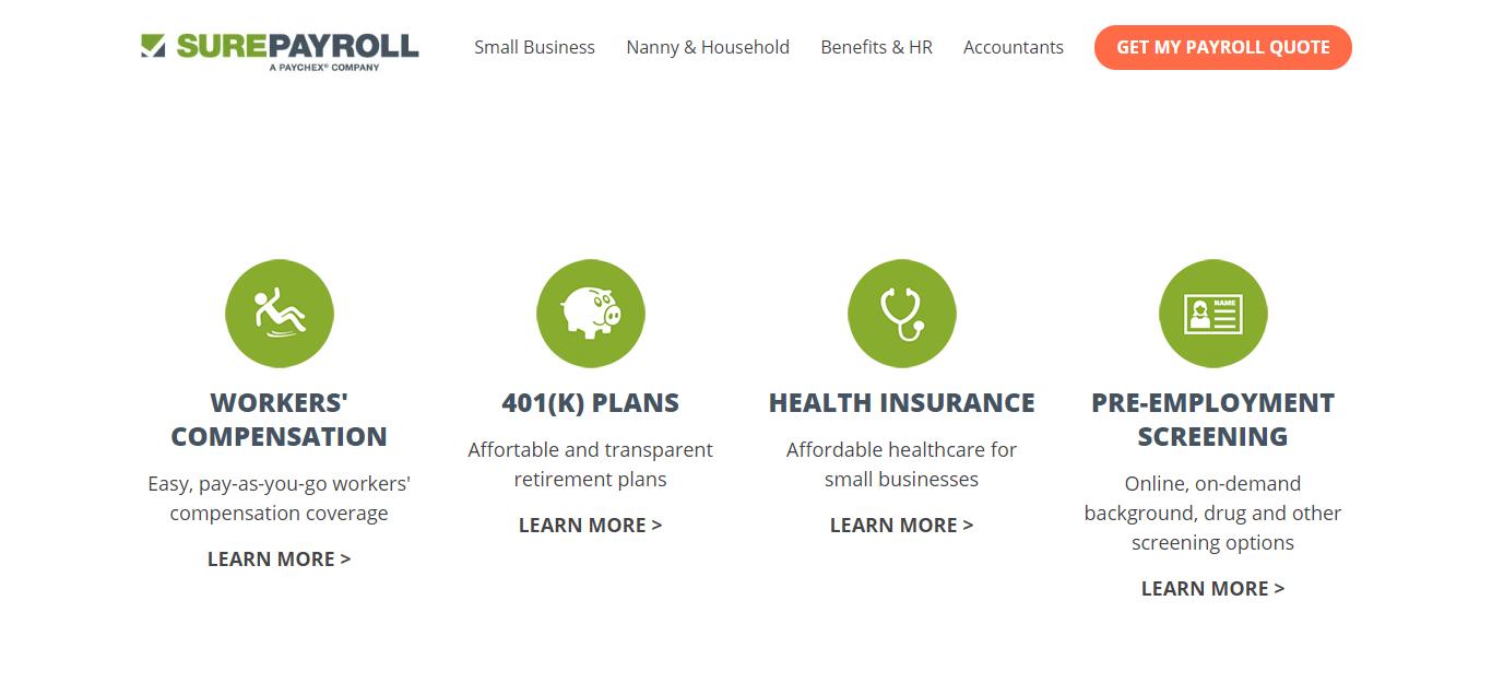 surepayroll benefits