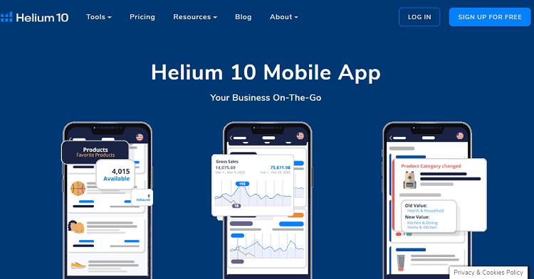 helium 10 app