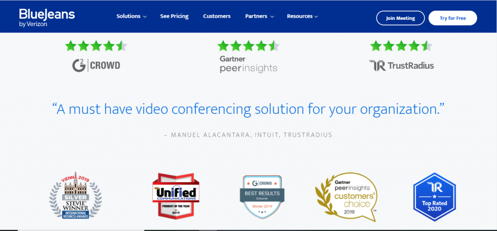 BlueJeans Teleconferencing App