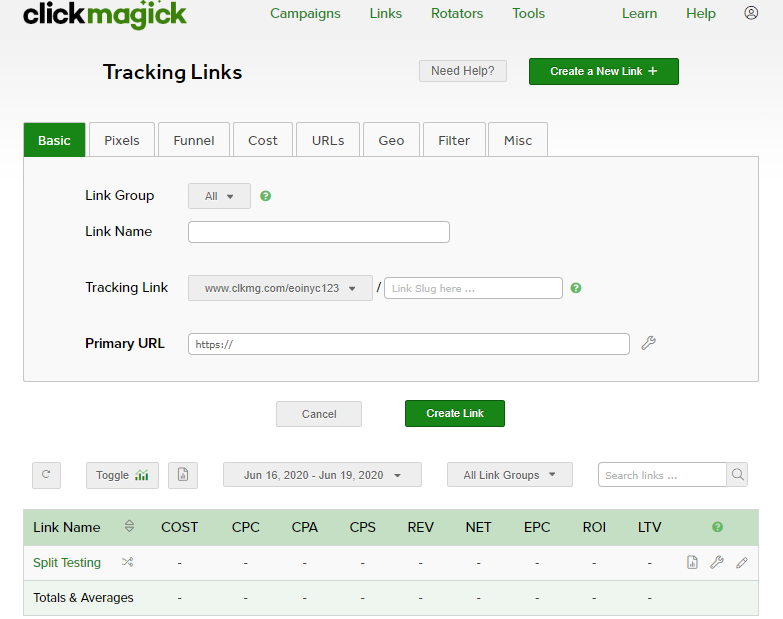 ClickMagick Review Tracking Links