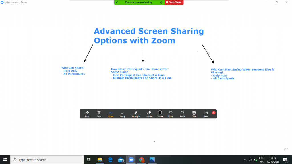 An Example of What Can be Created Using Zoom/Webex Screen Sharing Whiteboard Feature