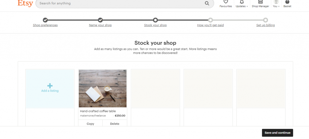 An Example of Etsy Store Simplicity